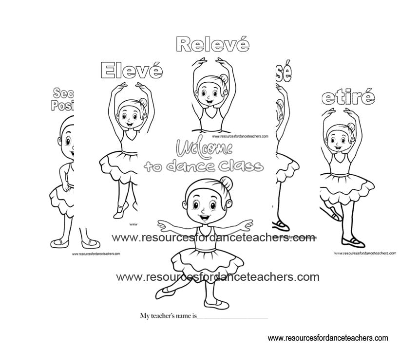 preschool ballet colouring pages