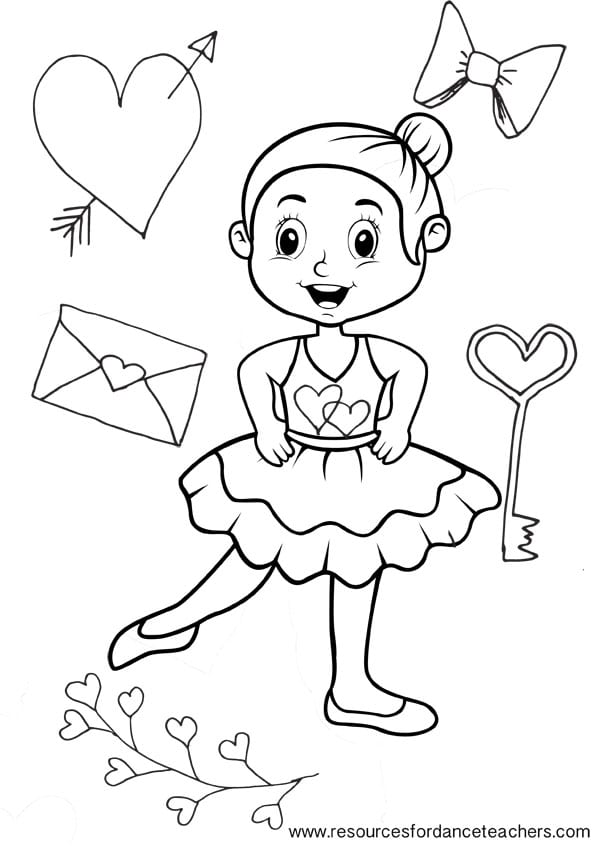 Preschool Ballet Colouring Pages - value pack number 2 ...