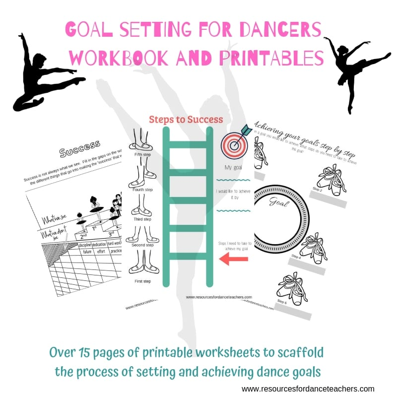 photograph regarding Goals Printable known as Function environment for dancers workbook and printables