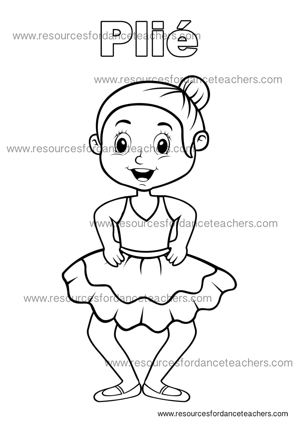 Preschool dance colouring sheets