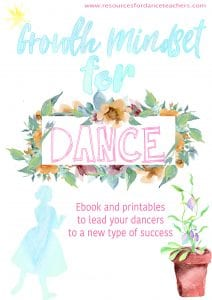 growth mindset for dancers resource kit