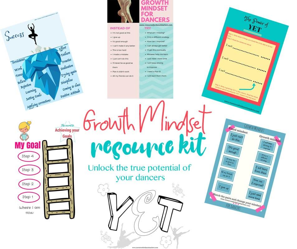 Growth mindset for dancers – resource kit