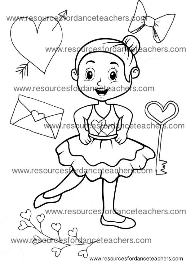 preschool ballet valentines