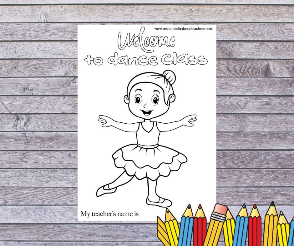 Back To Dance Coloring Page Resources For Dance Teachers