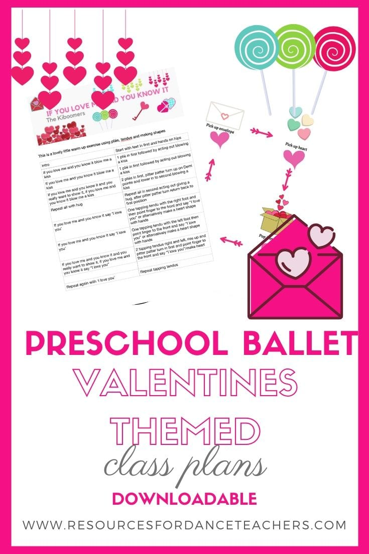 Valentines Preschool dance activities and class plan