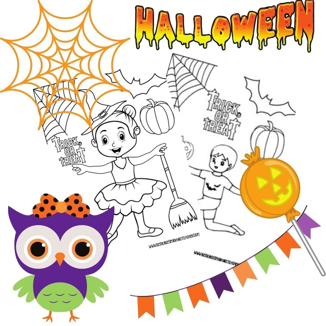 Halloween Coloring Pages And Preschool Dance Class Plan Resources For Dance Teachers
