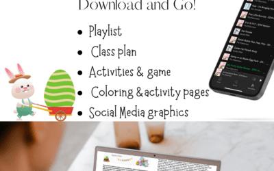 Preschool Easter Dance class plan & activity pack
