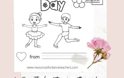 Mother's Day Dance Coloring sheet – free download
