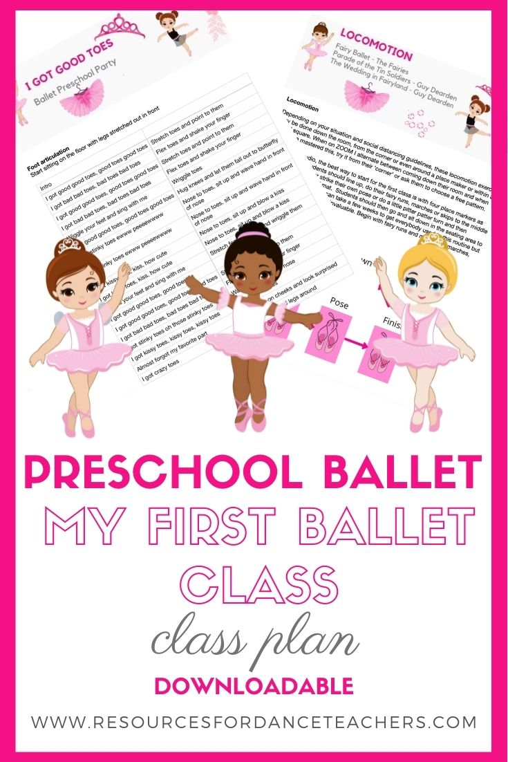 pre-ballet class plan
